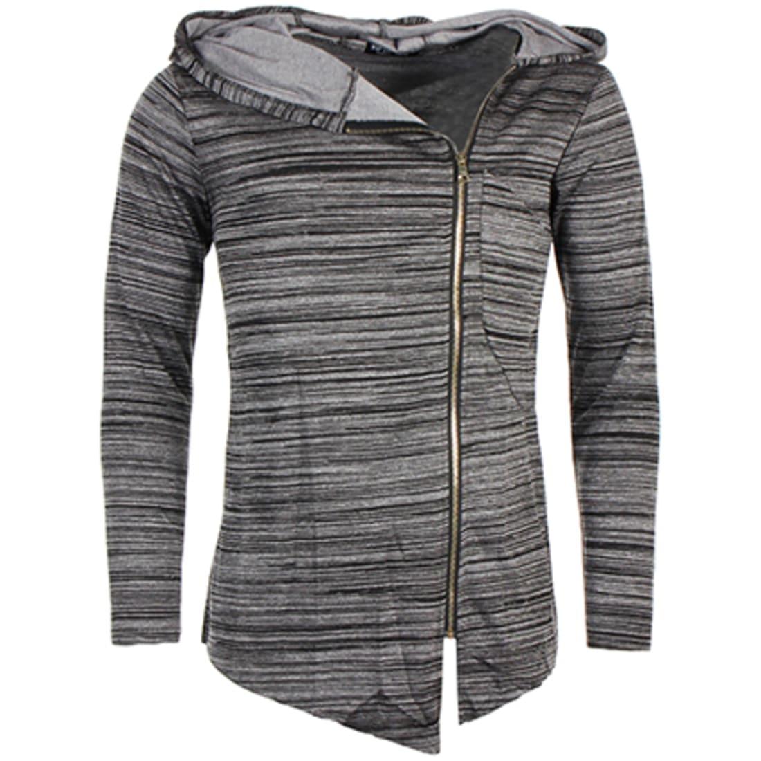 VIP Clothing Veste Zippée Capuche Oversize 066 Noir Zebra