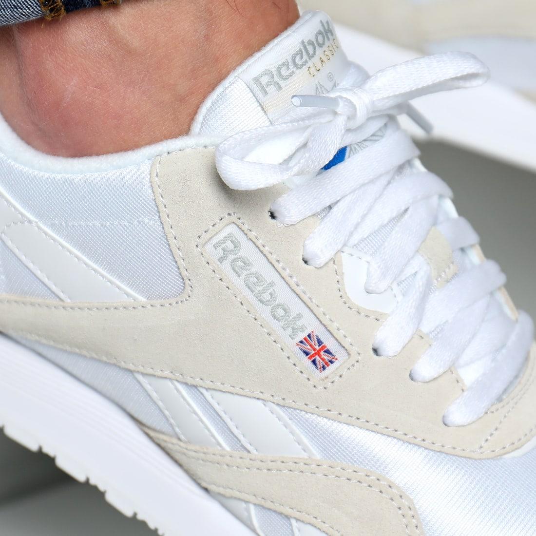 Reebok Baskets Classic Nylon 6390 White Light Grey