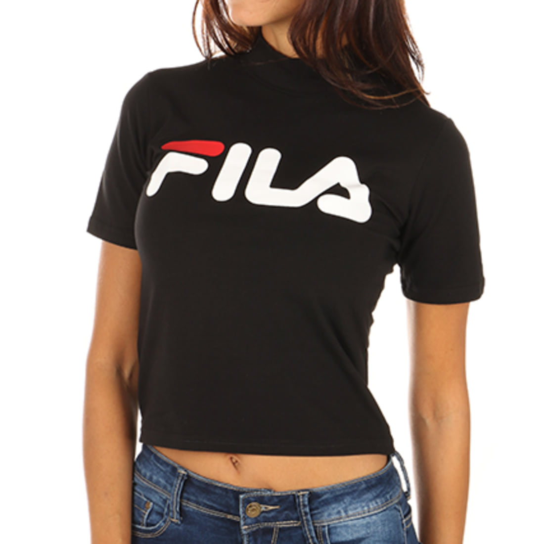 Fila Tee Shirt Crop Femme Every Turtle 681267 Blanc