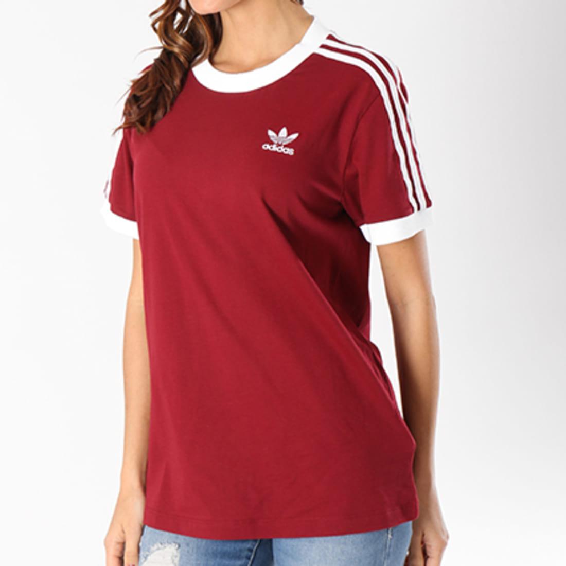 t-shirt adidas femme bordeaux