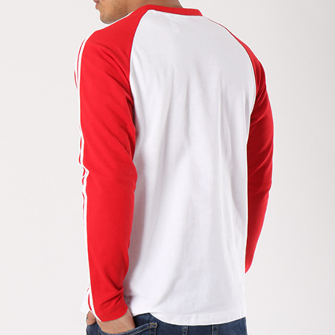 adidas Tee Shirt Manches Longues 3 Stripes CW1231 Blanc