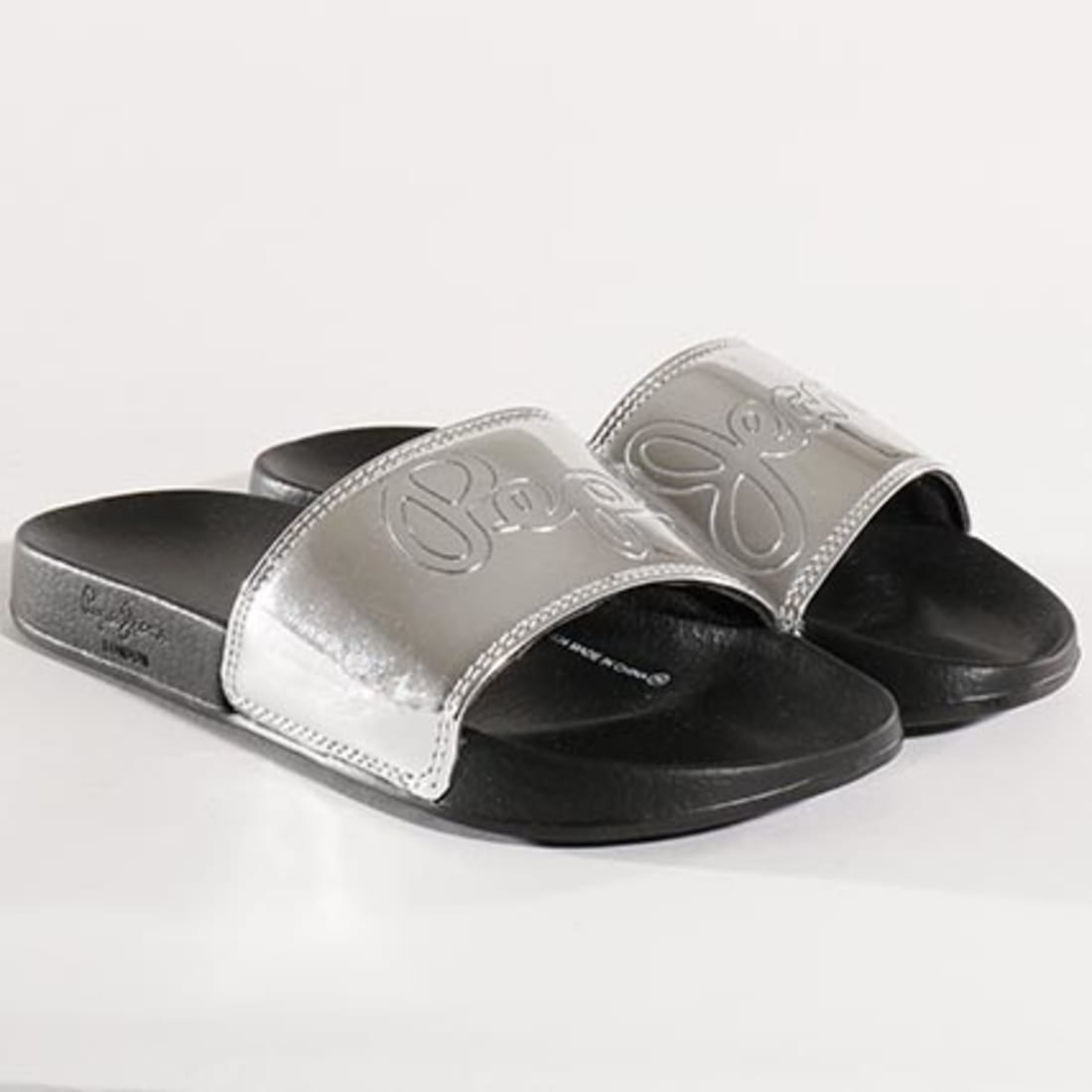 Šlepetės PEPE JEANS - Flap Shine PLS70037 Silver 934