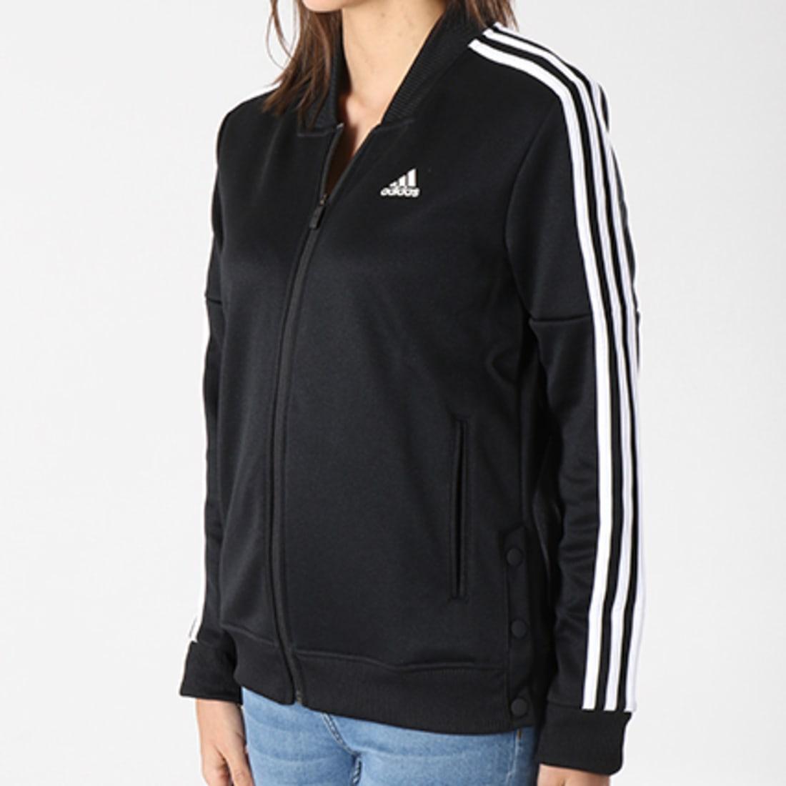 adidas Veste Zippée Femme Snap CE6024 Noir Blanc