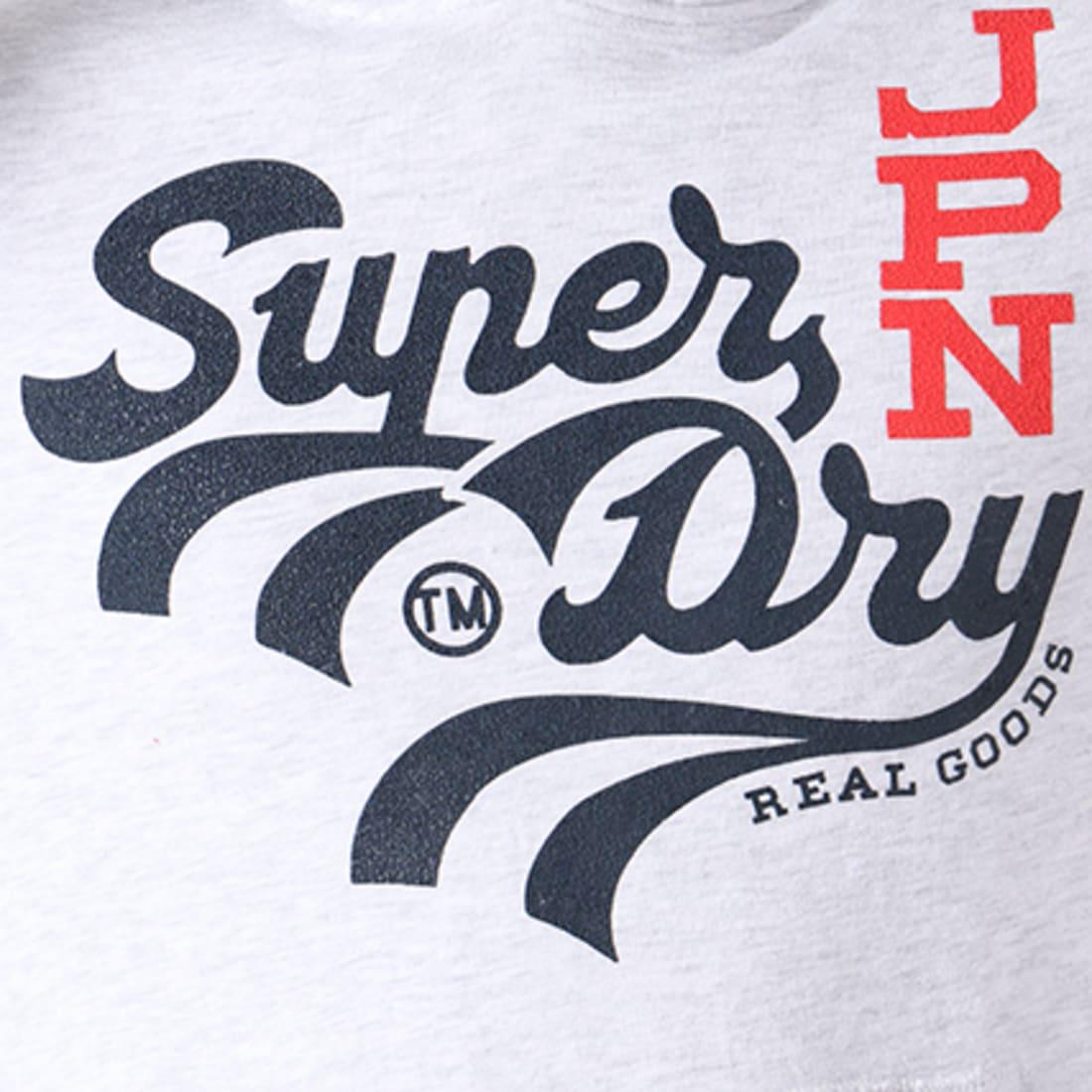 Superdry Sweat Capuche Real Jpn Goods M20105NQ Gris Chiné