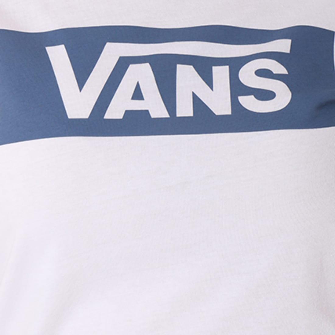 Vans Tee Shirt Femme Ring Tangle A3JE2RIP Blanc Bleu