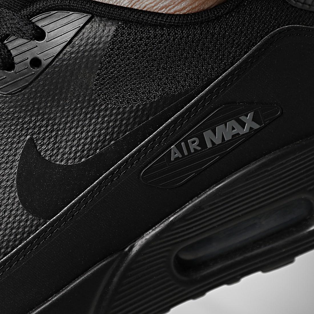 Nike - Baskets Air Max 90 Ultra 2.0 Essential 875695 002 Black ...