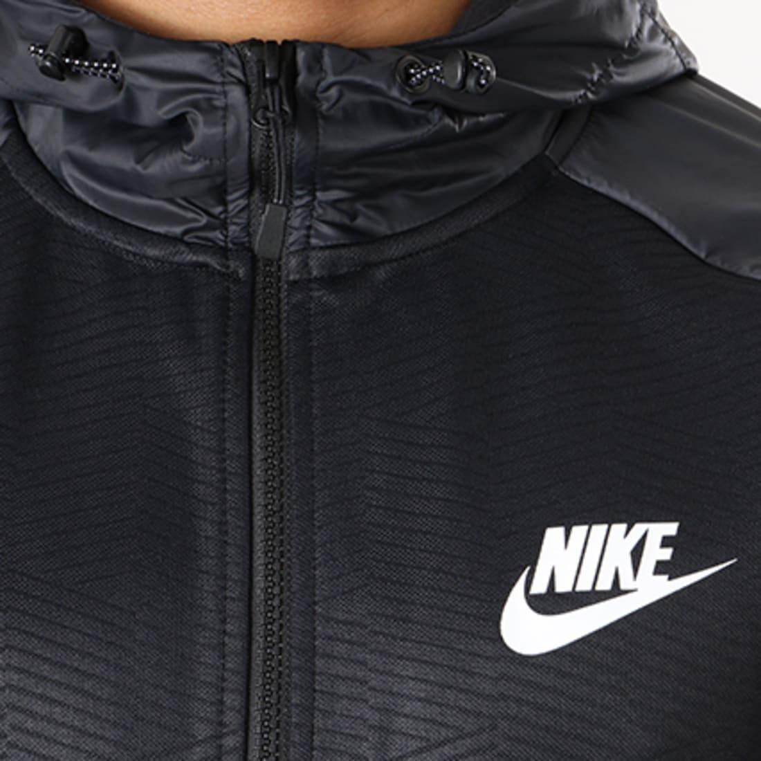 Nike Veste Zippée Capuche 863773 Noir