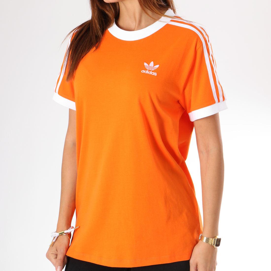 adidas Tee Shirt Femme 3 Stripes DH3143 Orange