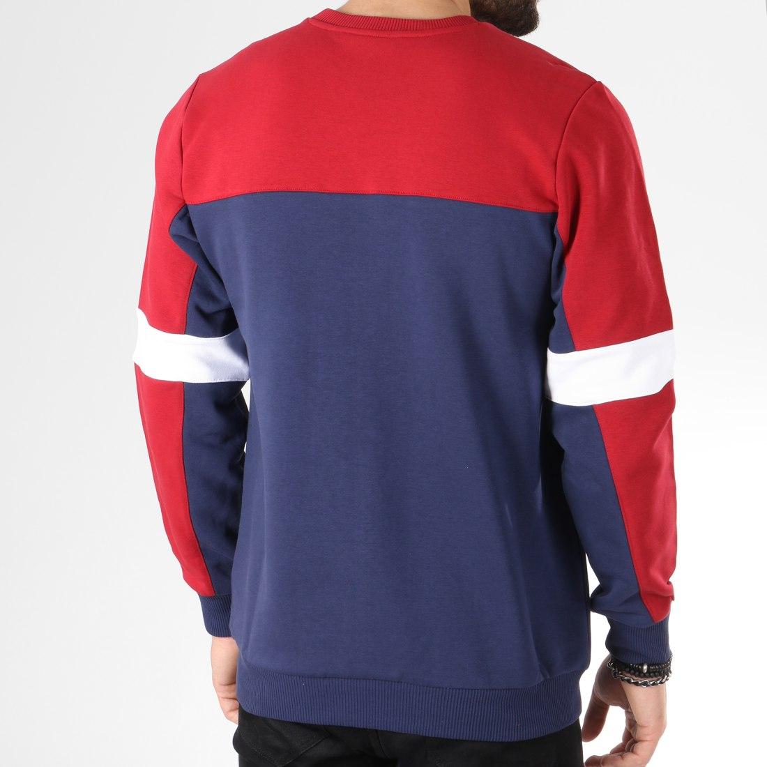 Fila Sweat Crewneck Norbin 682353 Bleu Marine Rouge Blanc