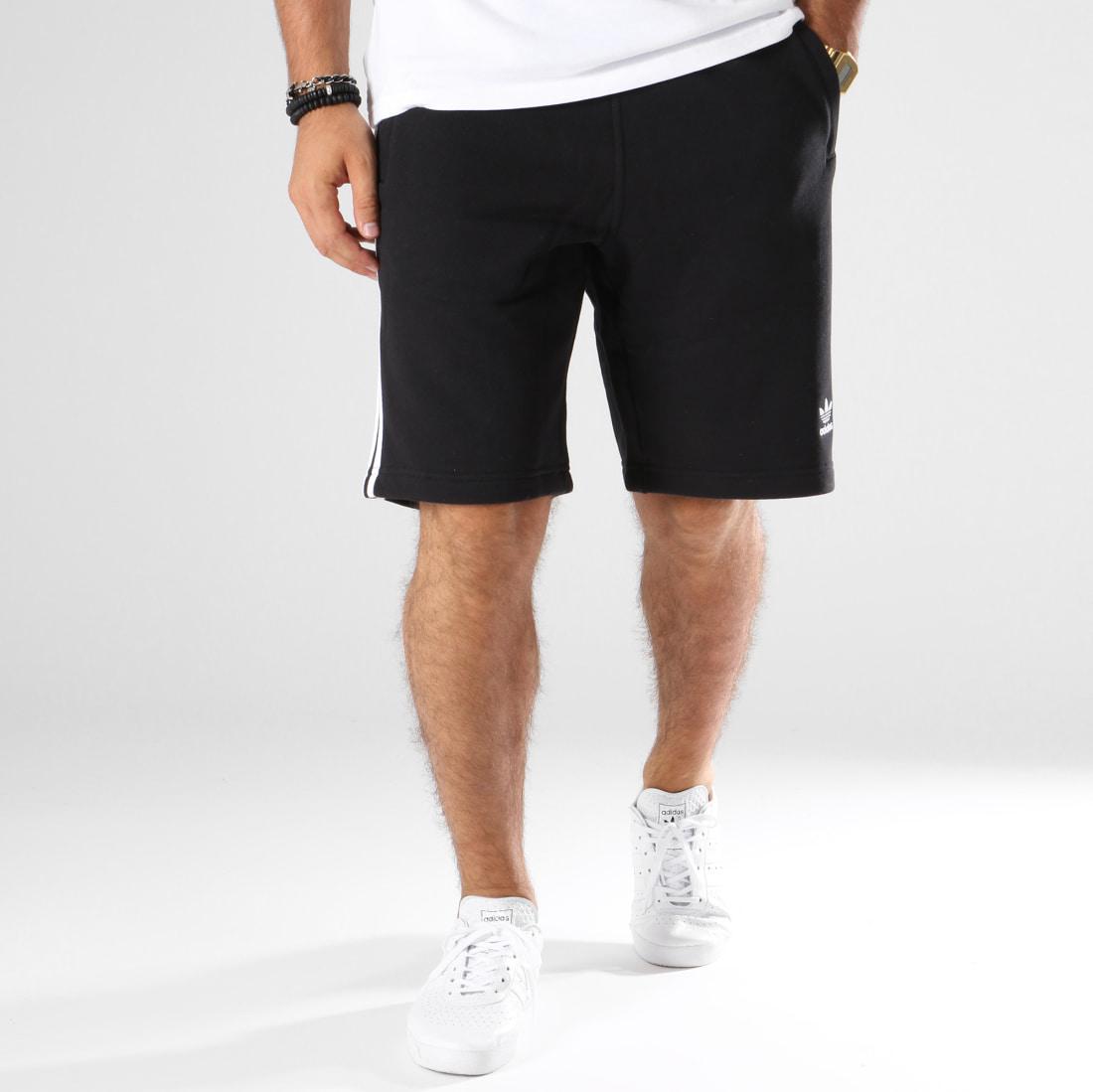 adidas Short Jogging Bandes Brodées 3 Stripes DH5798 Noir