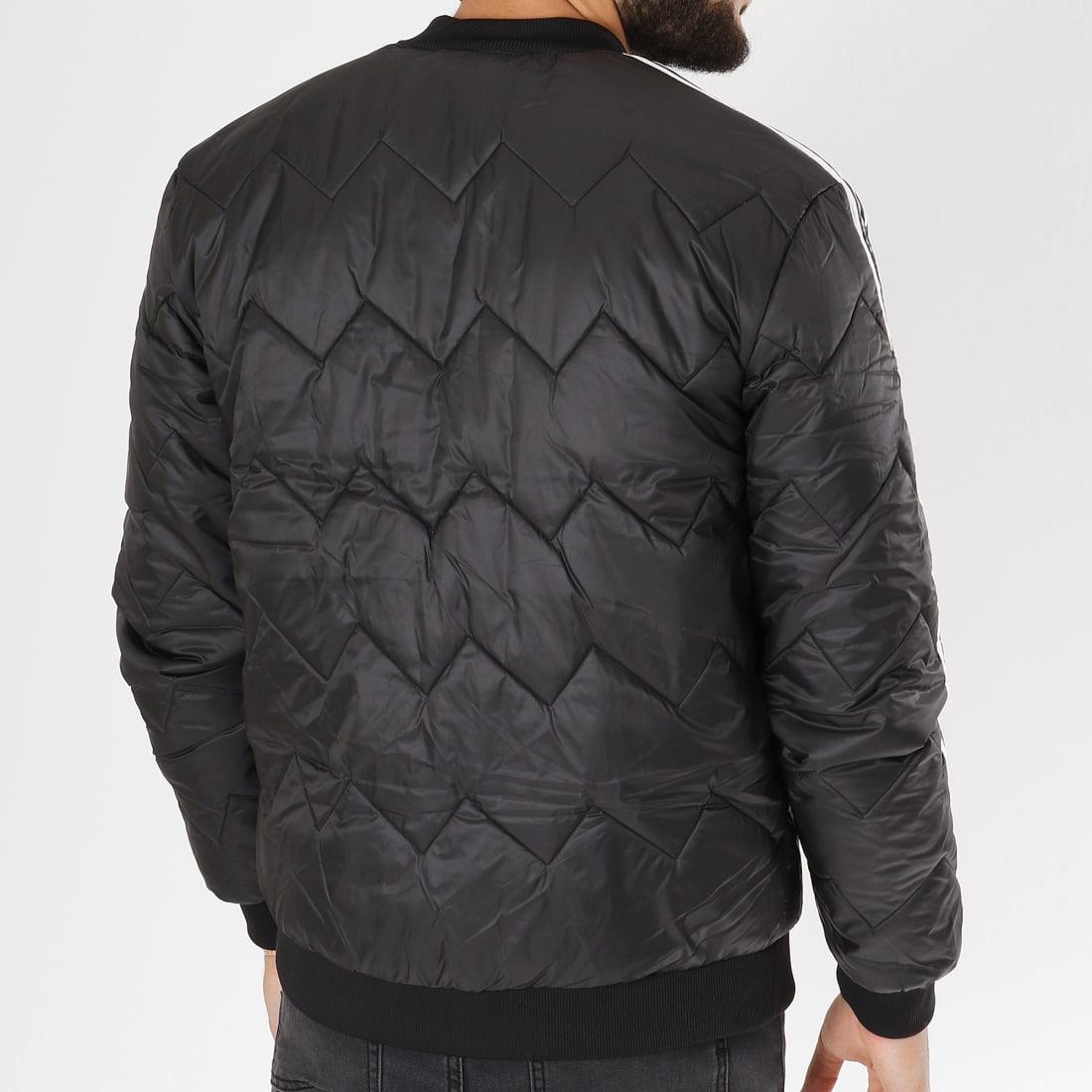 adidas Veste Zippée SST Quilted DH5008 Noir Blanc