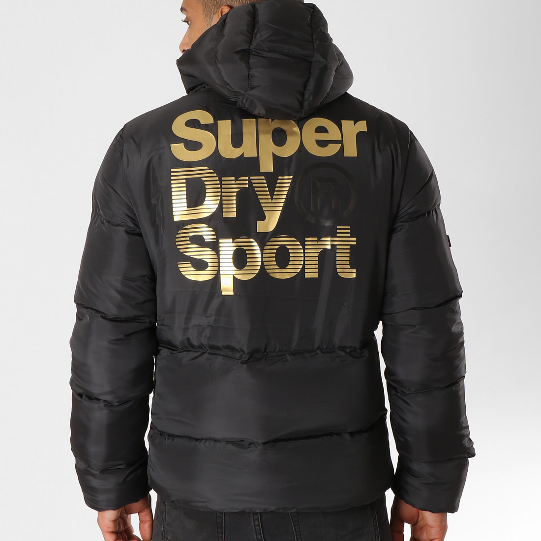 Superdry Doudoune Gym Tech Gold MS3031AR Noir Doré