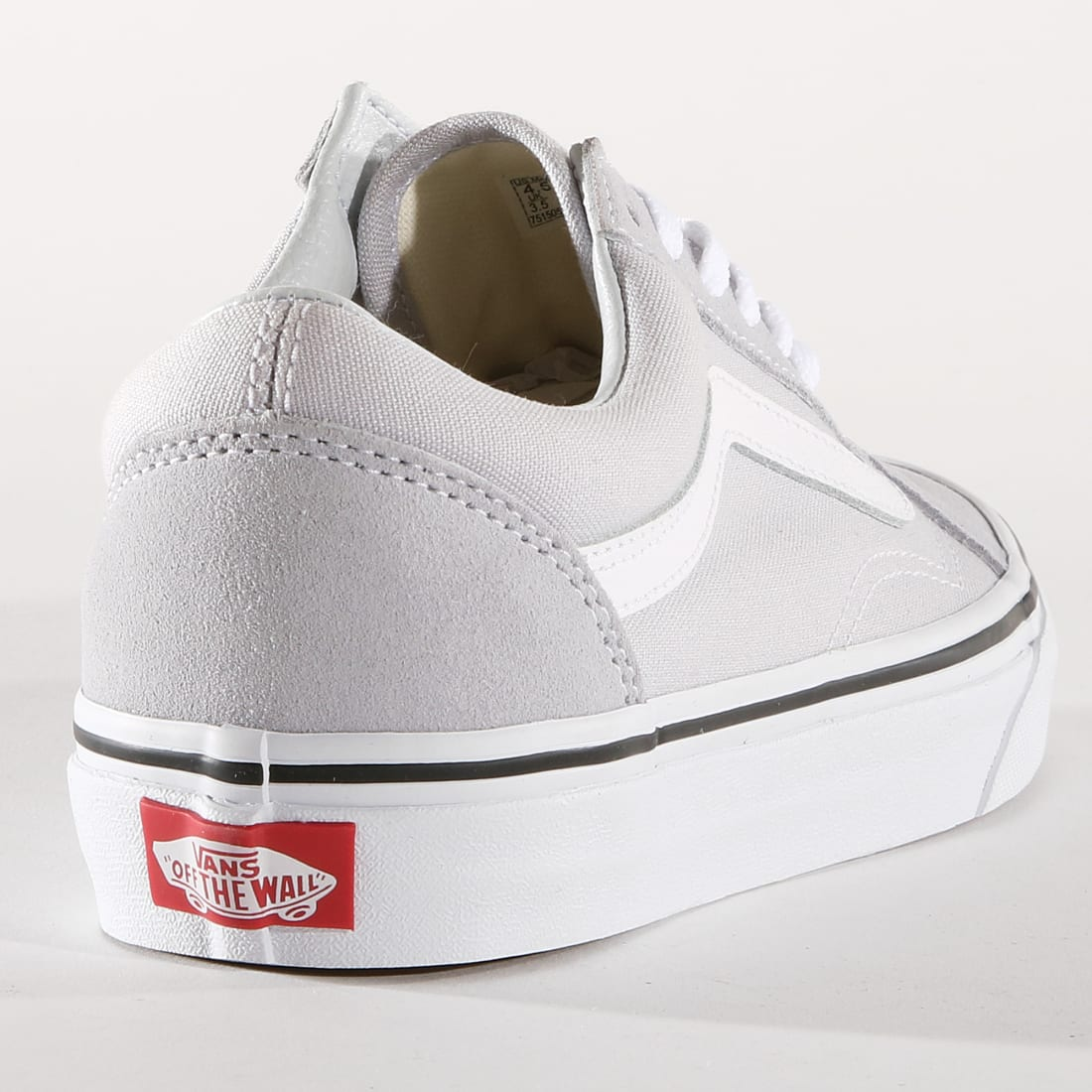 Vans Baskets Femme Old Skool A38UKX1 Gray Dawn True White