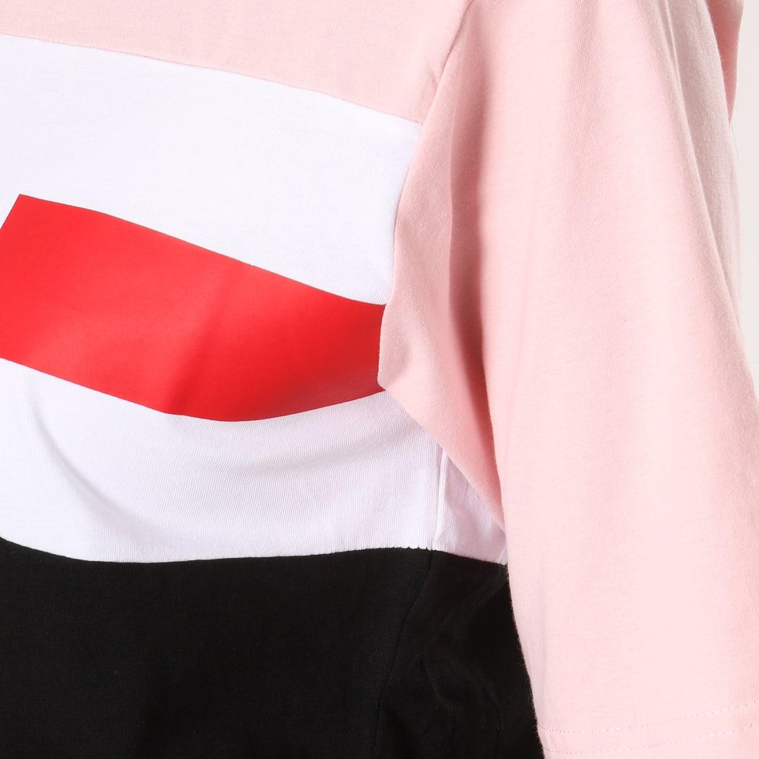 Fila Tee Shirt Femme Shannon 682131 Noir Rose Blanc