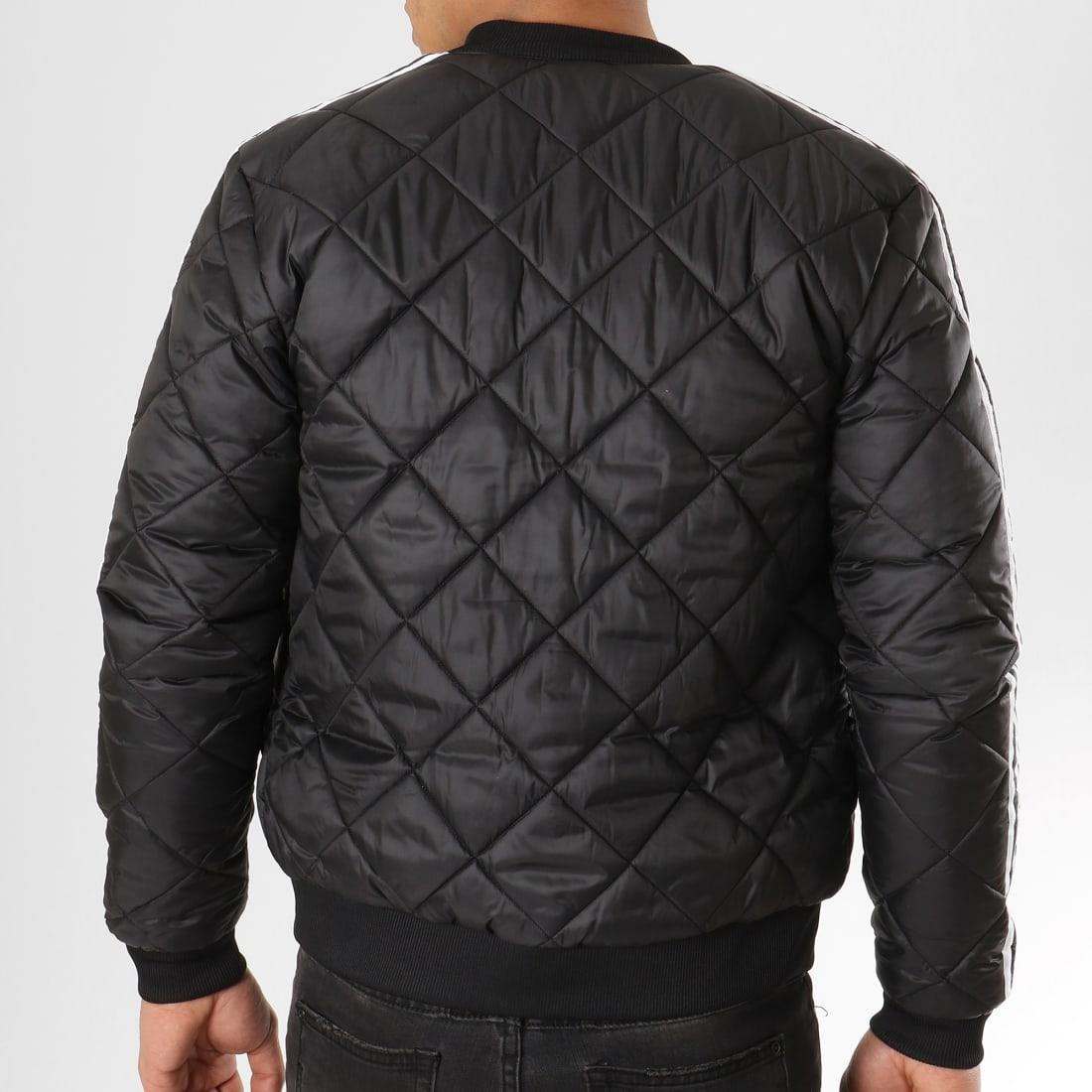 adidas Veste Zippée Quilted SST DV2302 Noir Blanc
