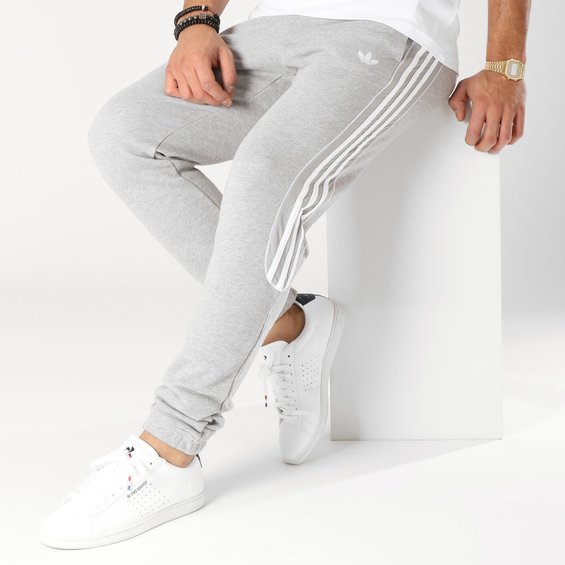 adidas Pantalon Jogging Radkin Gris Chiné
