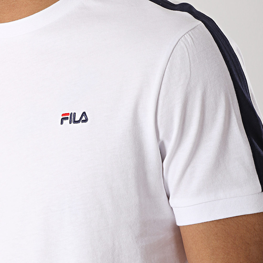 T shirt Fila Salus Tee Bleu Marine Bandes
