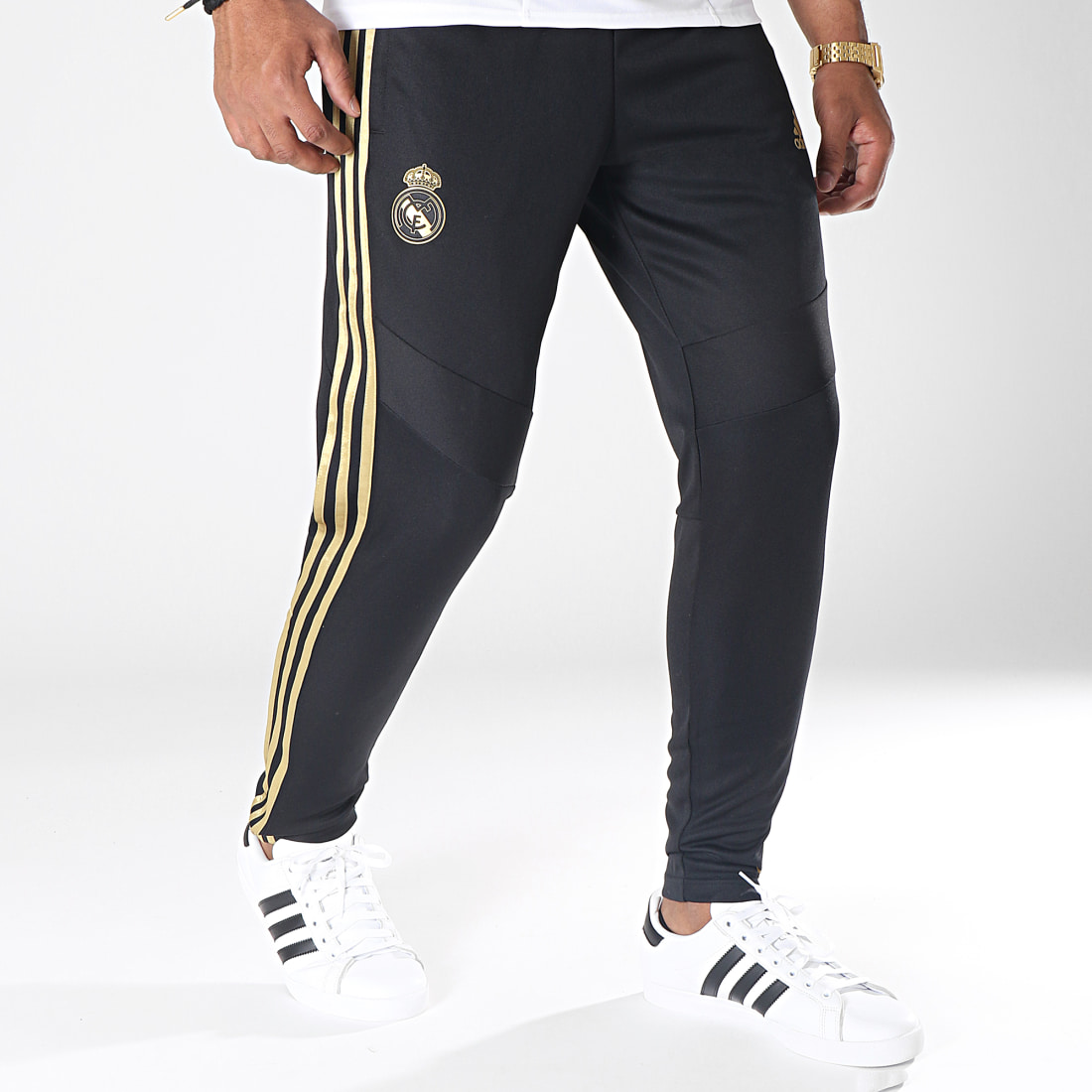 adidas Pantalon Jogging A Bandes Real Madrid DX7847 Noir