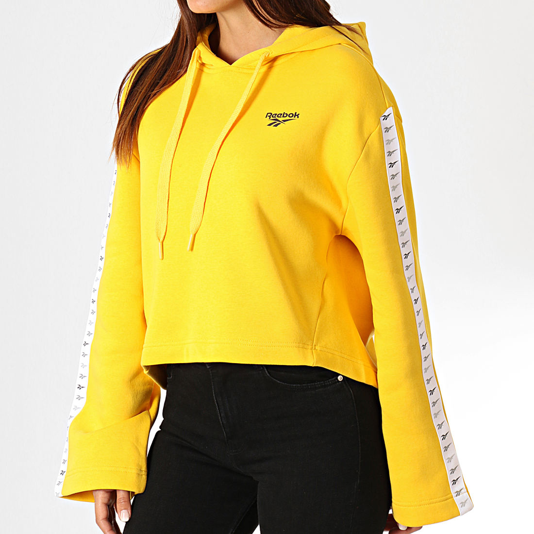 sweat jaune femme adidas