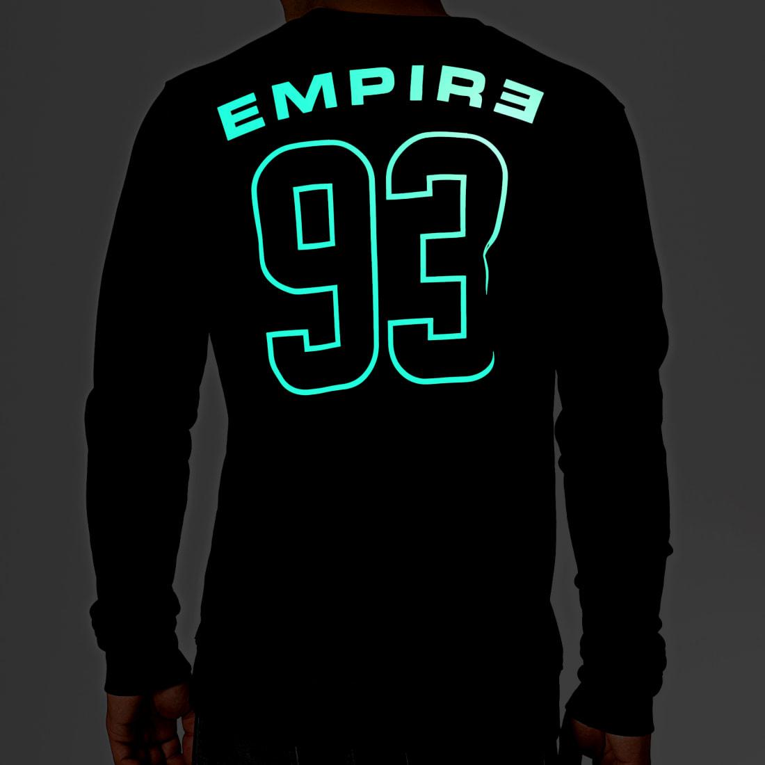 93 Empire Sweat Crewneck Glow In The Dark Dossard Noir