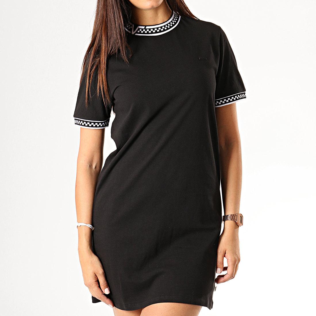 Vans - Robe Tee Shirt Femme High Roller V A47UTBLK Noir ...