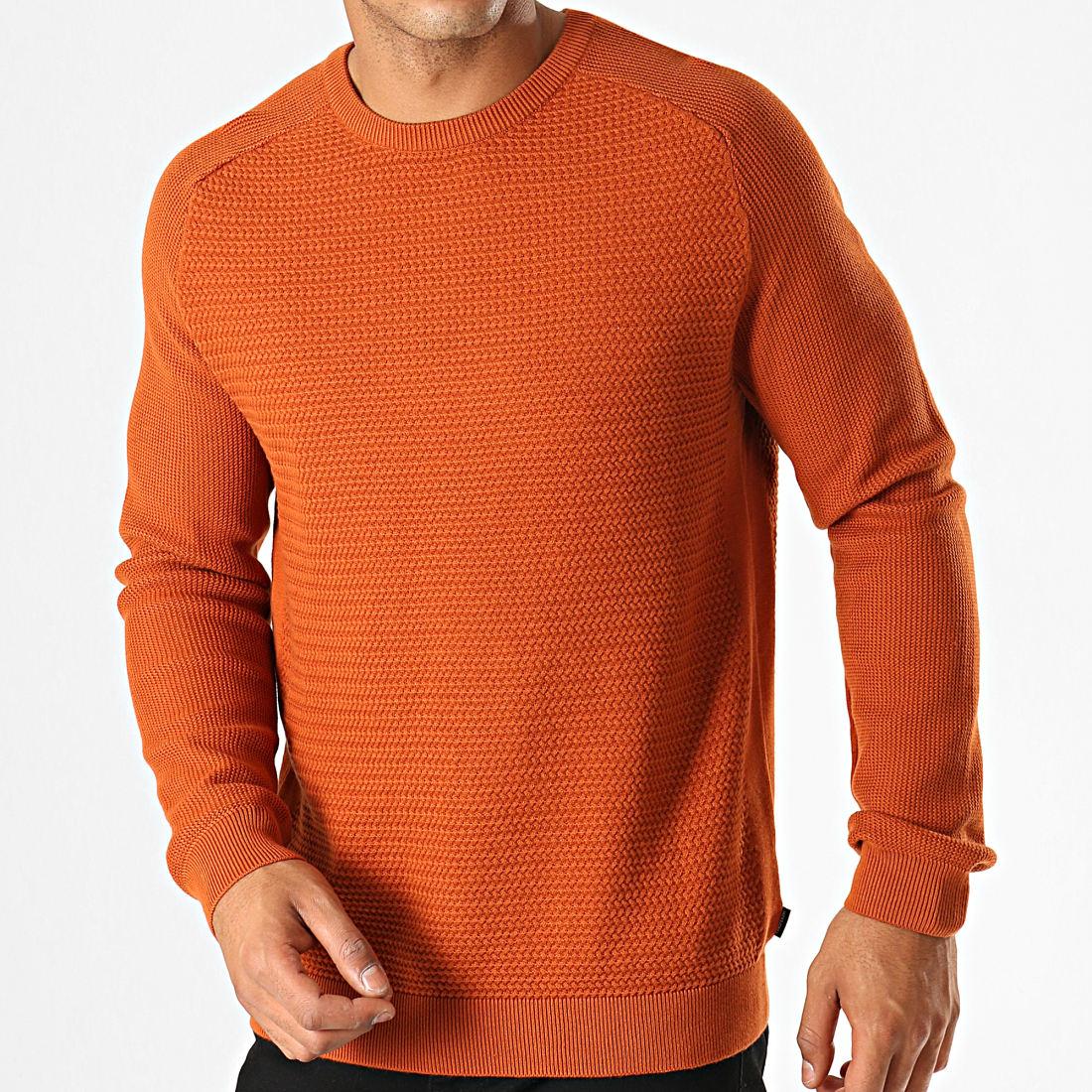 Jack And Jones - Pull Knit Orange - LaBoutiqueOfficielle.com