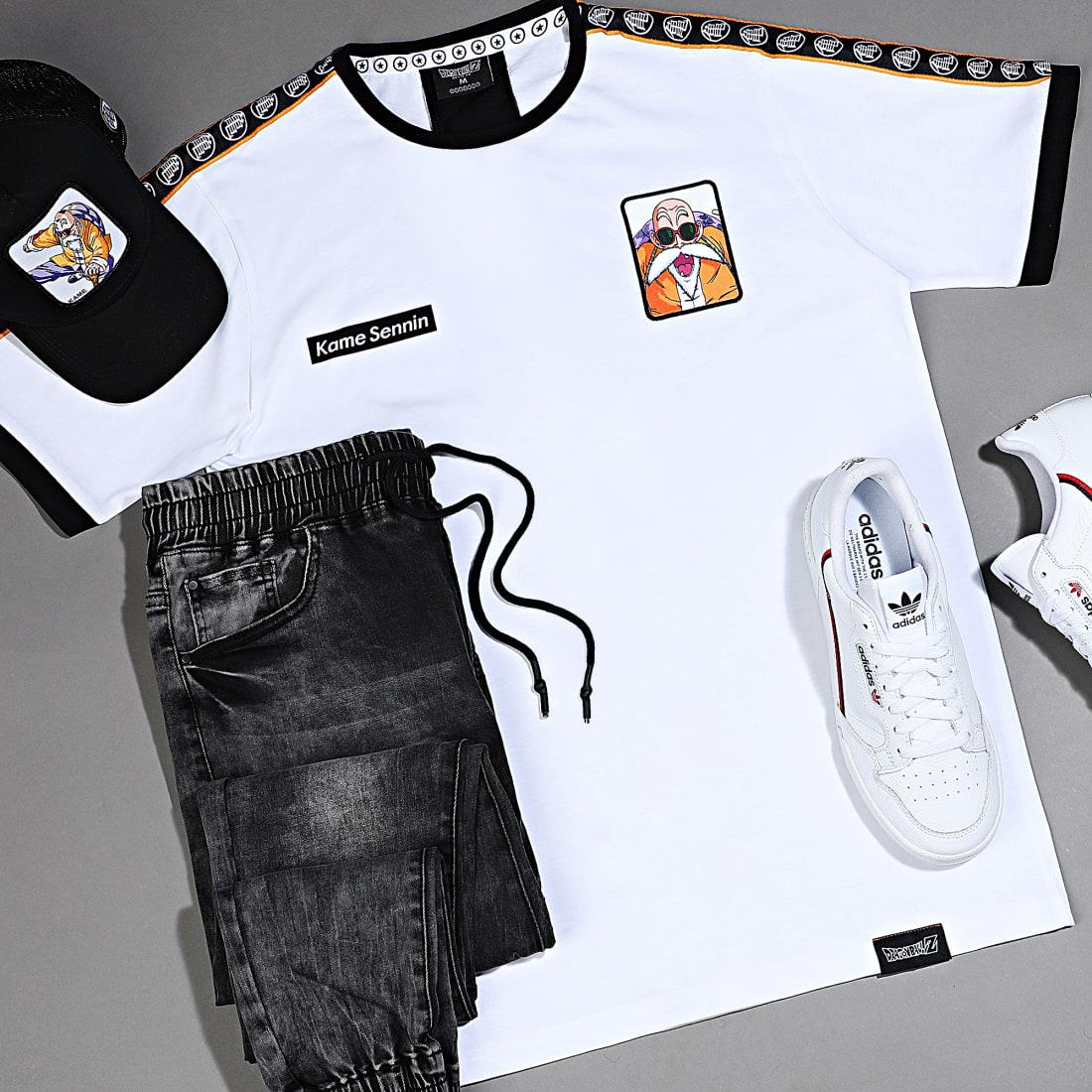 Dragon Ball Z Tee Shirt A Bandes Kame Blanc