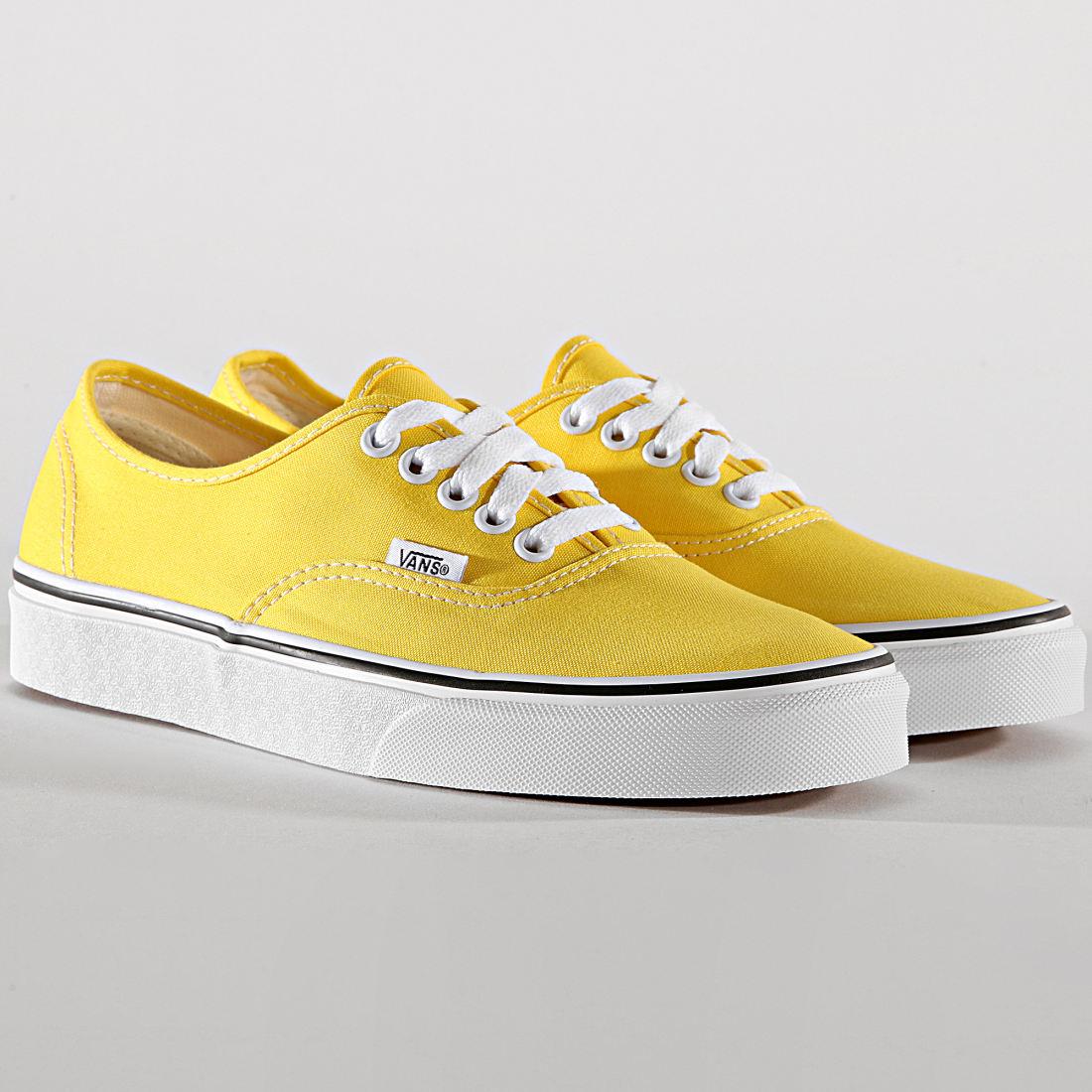 vans carreaux jaune
