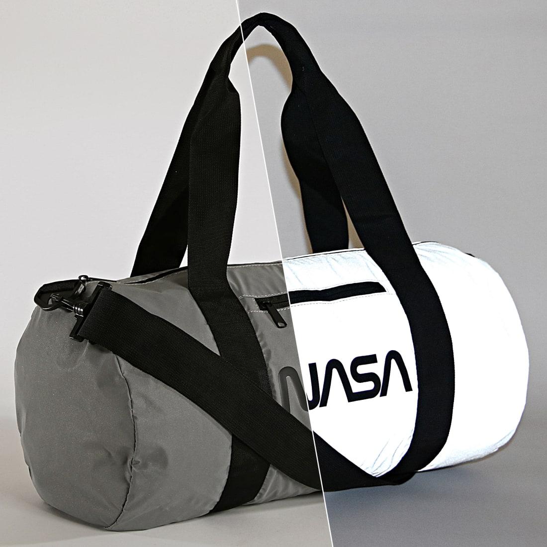 NASA Sac De Sport Worm Logo Reflective Gris