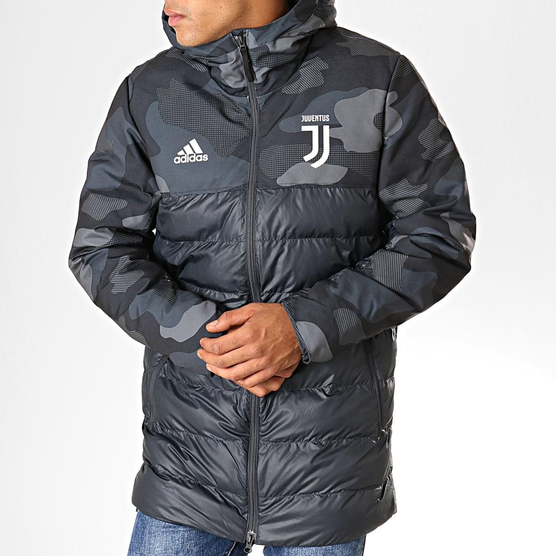 adidas Doudoune A Capuche Juventus DX9202 Gris Anthracite