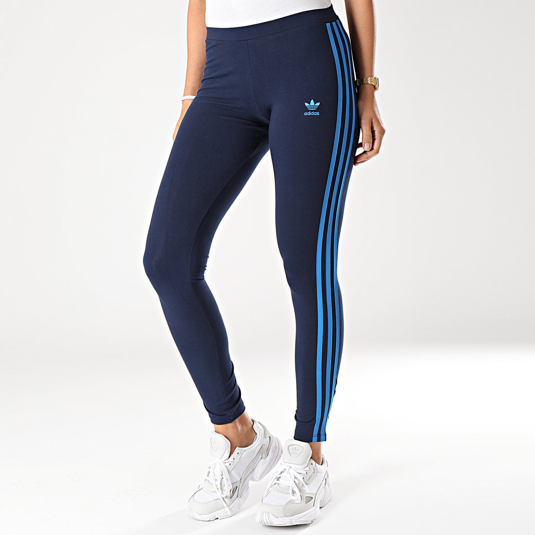 adidas - Legging Femme A Bandes 3 Stripes EJ9022 Bleu Marine ...