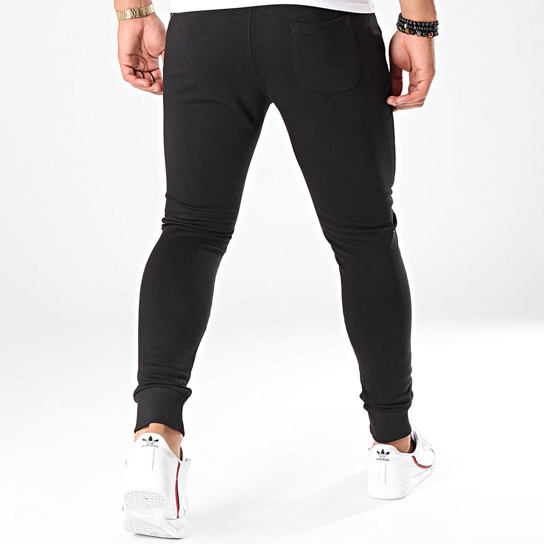 7 Binks Pantalon Jogging Logo Noir Blanc