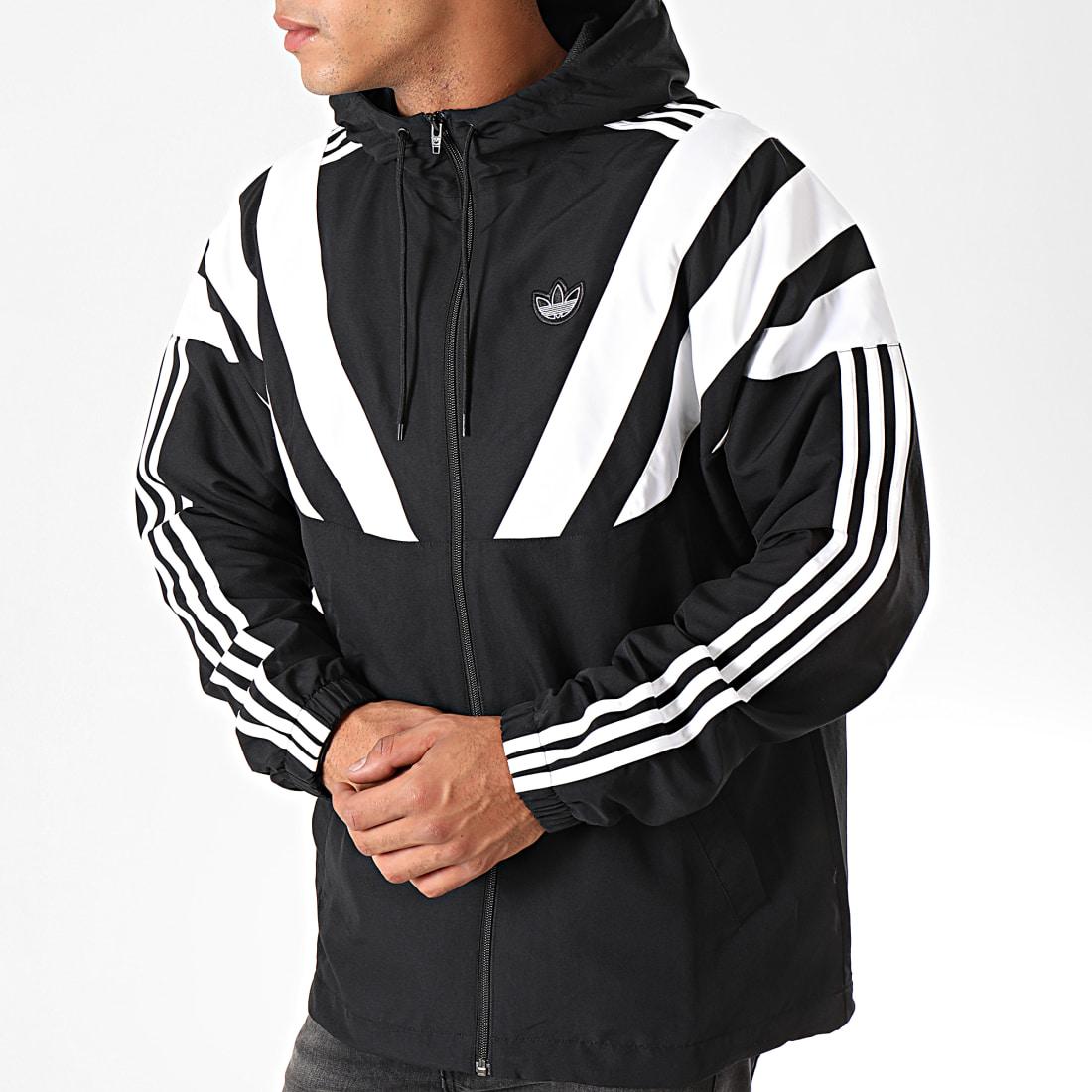 adidas Veste Zippée Capuche Balanta EE2344 Noir Blanc