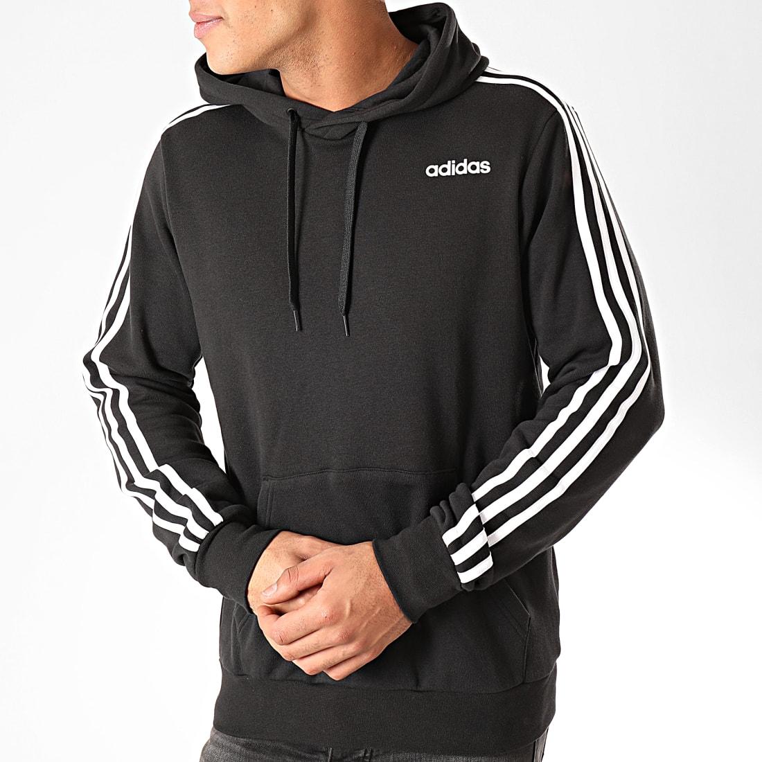 adidas Sweat Capuche A Bandes Essential 3 Stripes DU0498