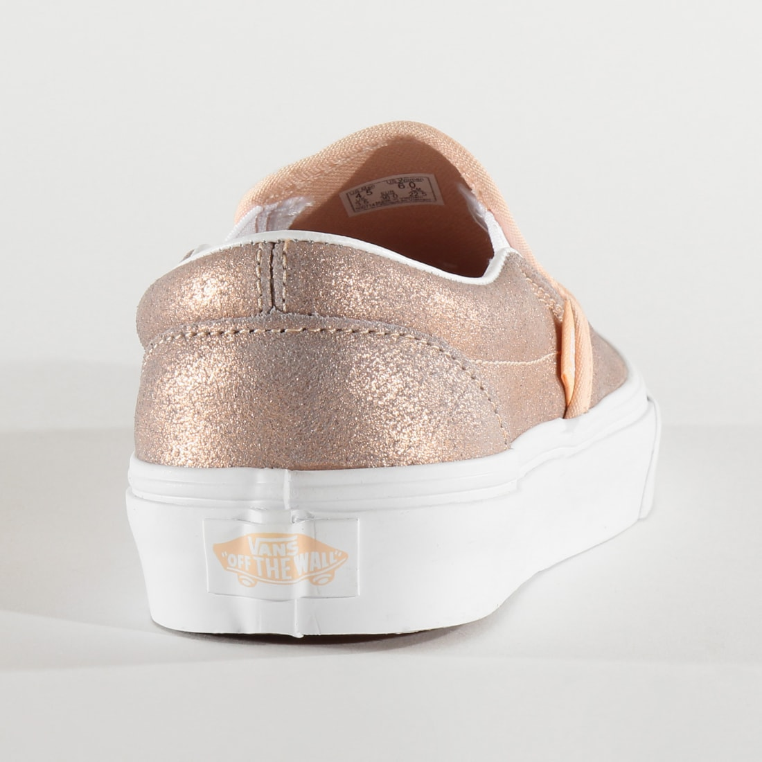 Vans Baskets Femme Classic Slip On BV3T61 Rose Gold