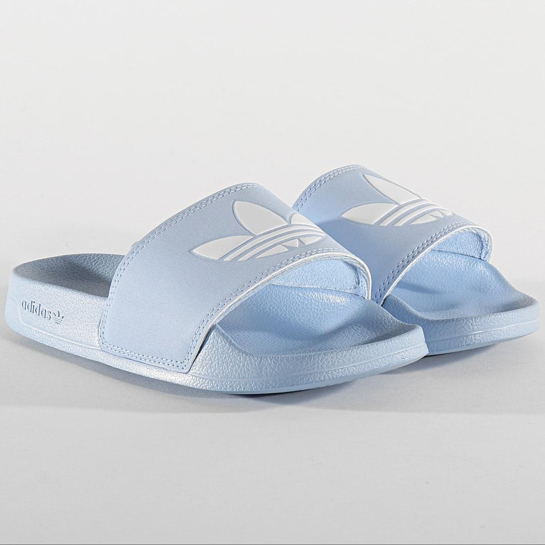 adidas - Claquettes Femme Adilette Lite FU9138 Bleu ...