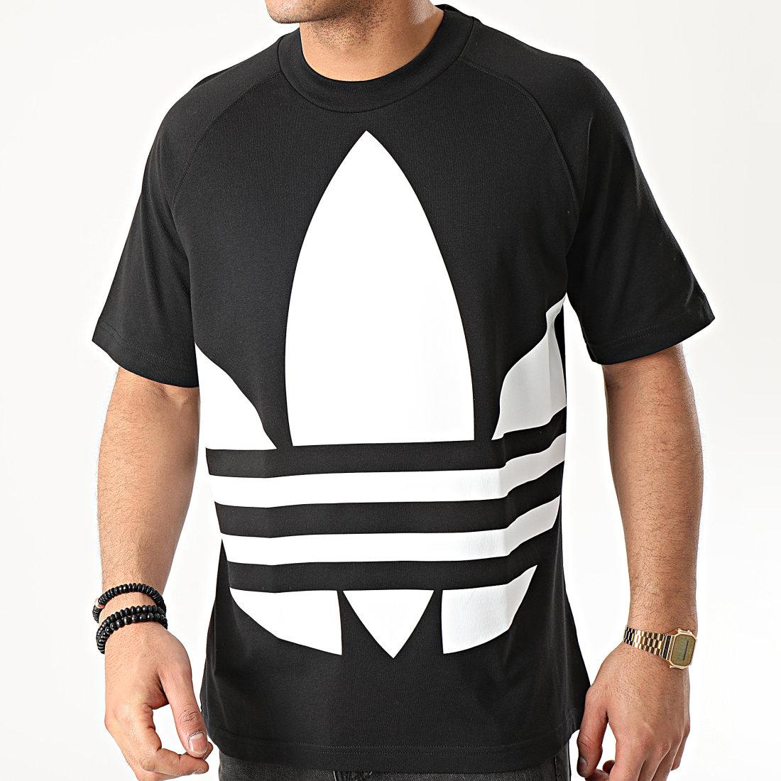 adidas Tee Shirt Big Trefoil FM9904 Noir Blanc