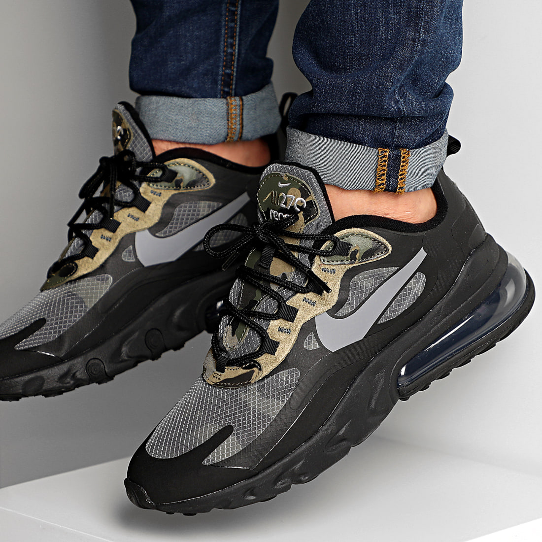 Nike Baskets Air Max 270 React CT5528 Black White