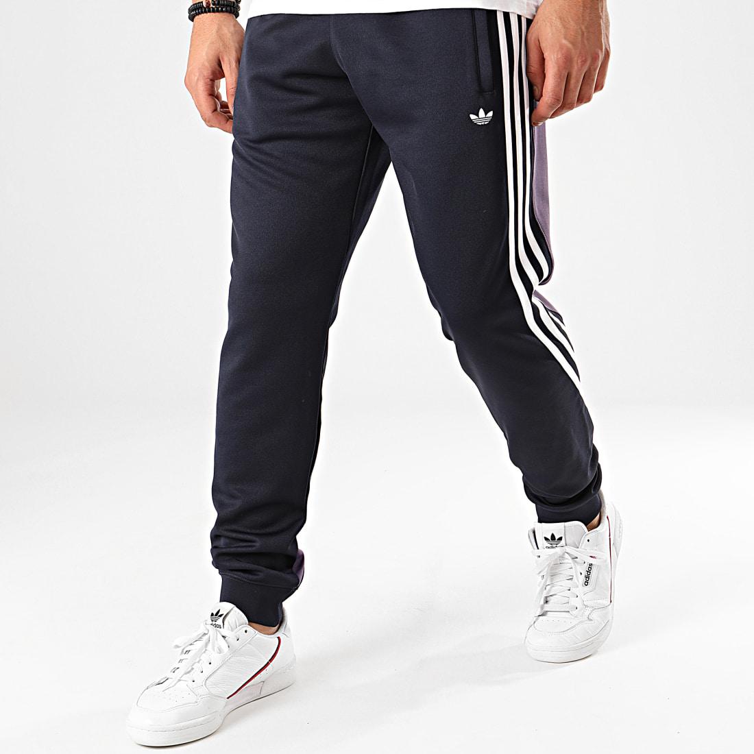 adidas Pantalon Jogging A Bandes Wrap FM1527 Bleu Marine
