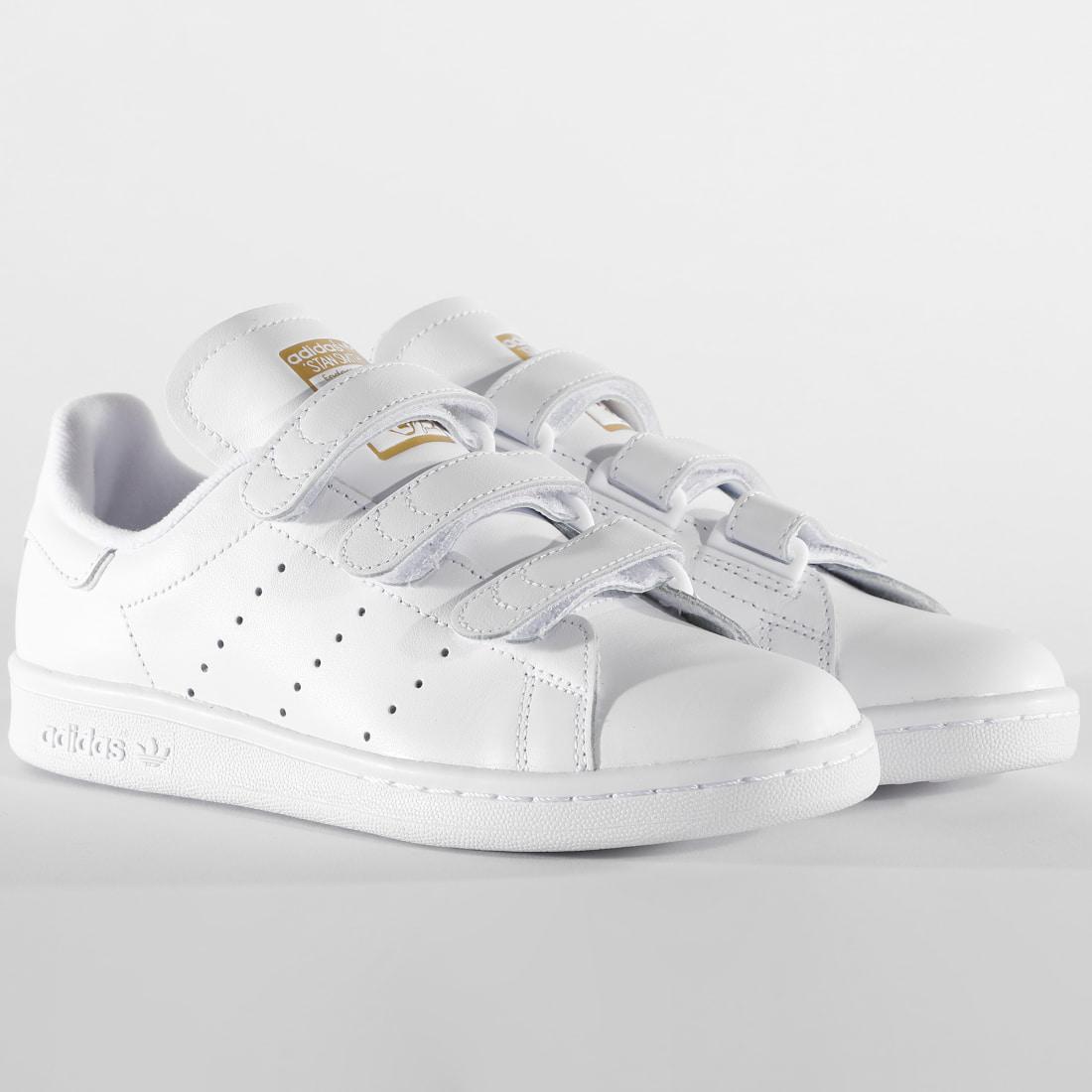 Adidas Originals Stan Smith CF White/Gold   S75188 - Naked