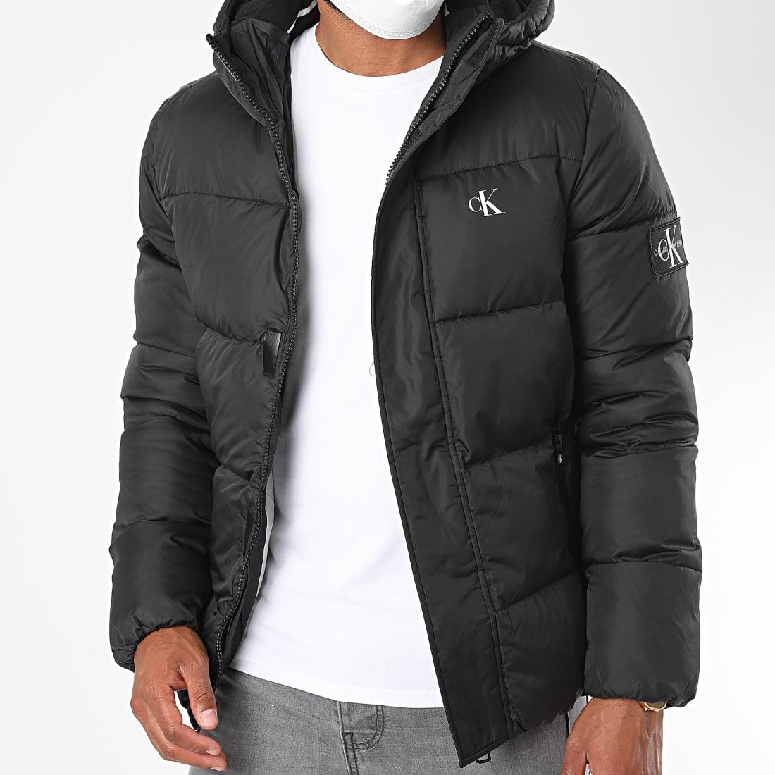 Calvin Klein Doudoune Capuche Hooded Puffer 6055 Noir