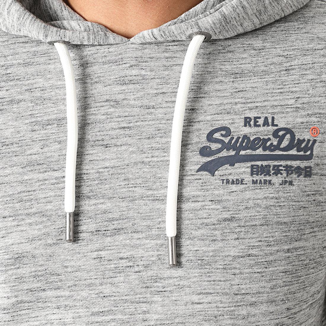 Superdry Sweat Capuche VL Pasteline M2010214A Gris Chiné