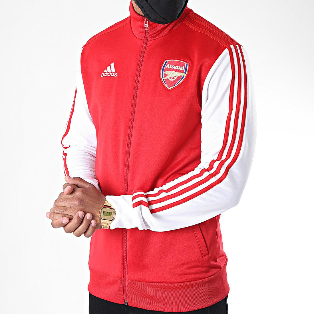 adidas Veste Zippée A Bandes Arsenal FC FQ6941 Rouge Blanc