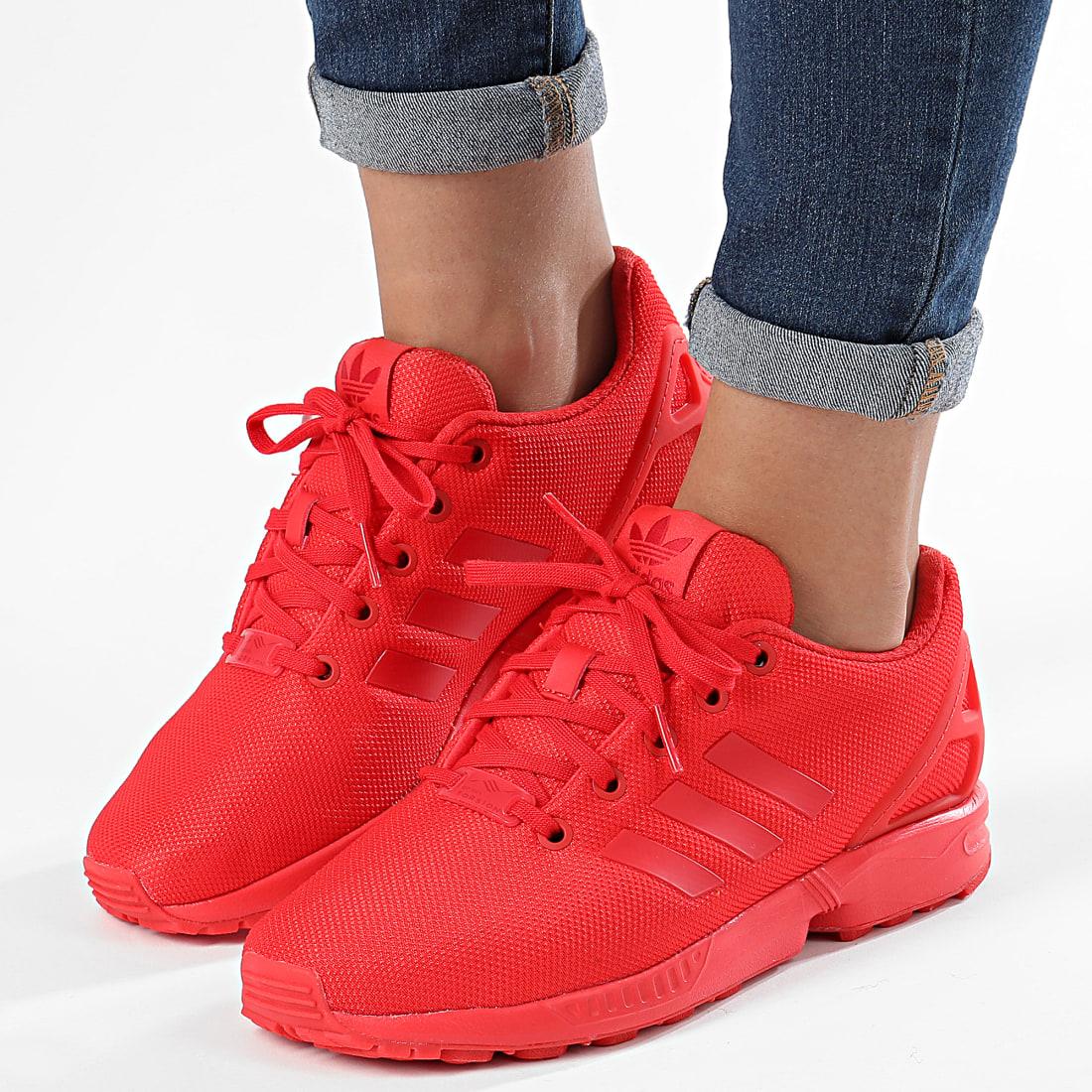 Adidas Originals - Baskets Femme ZX FLux EG3823 Red ...