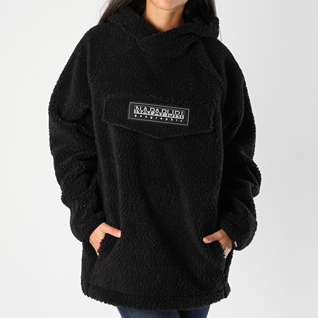 Napapijri - Sweat Capuche Femme Patch Curly
