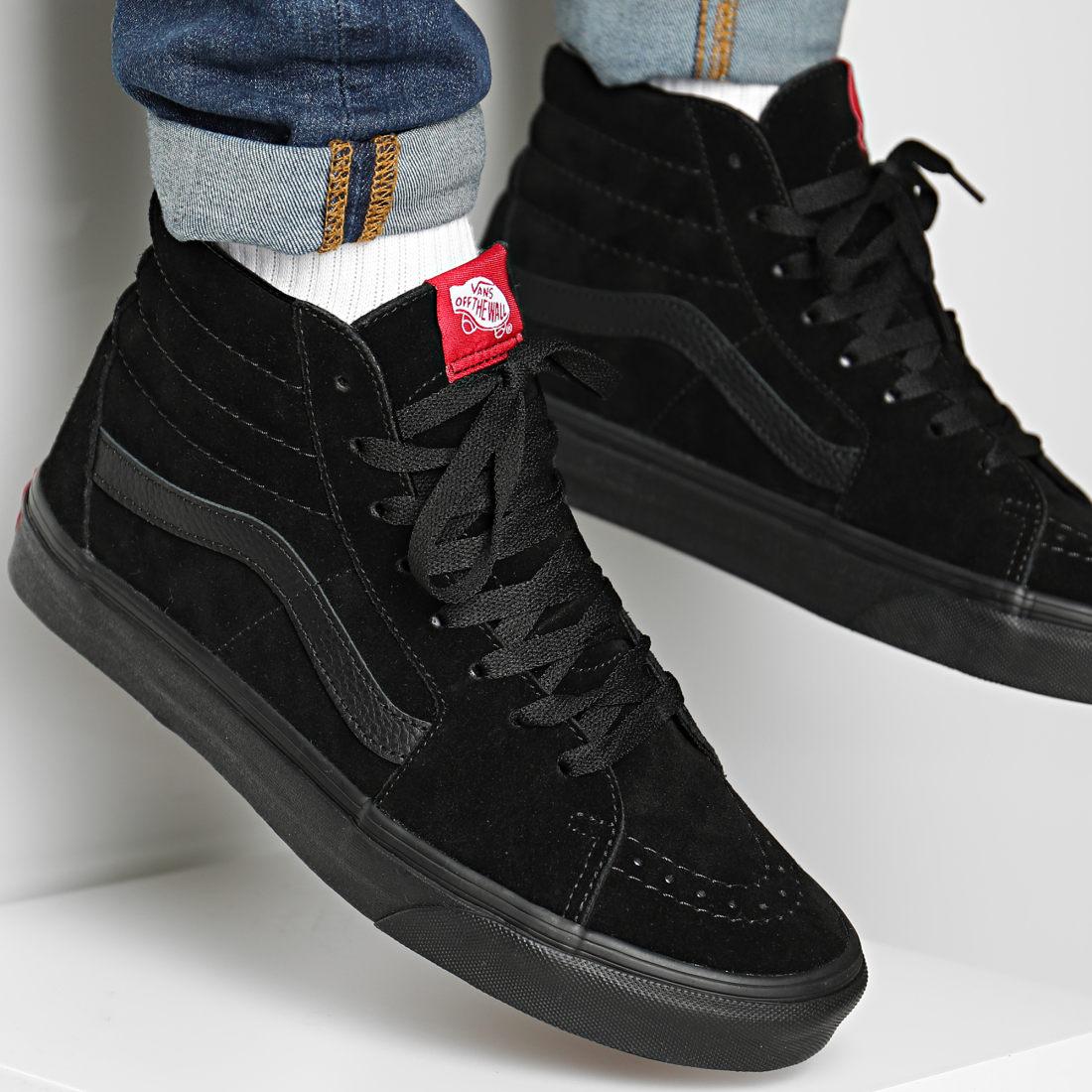 Vans - Baskets Montantes Sk8-Hi D5IBKA Black Black ...