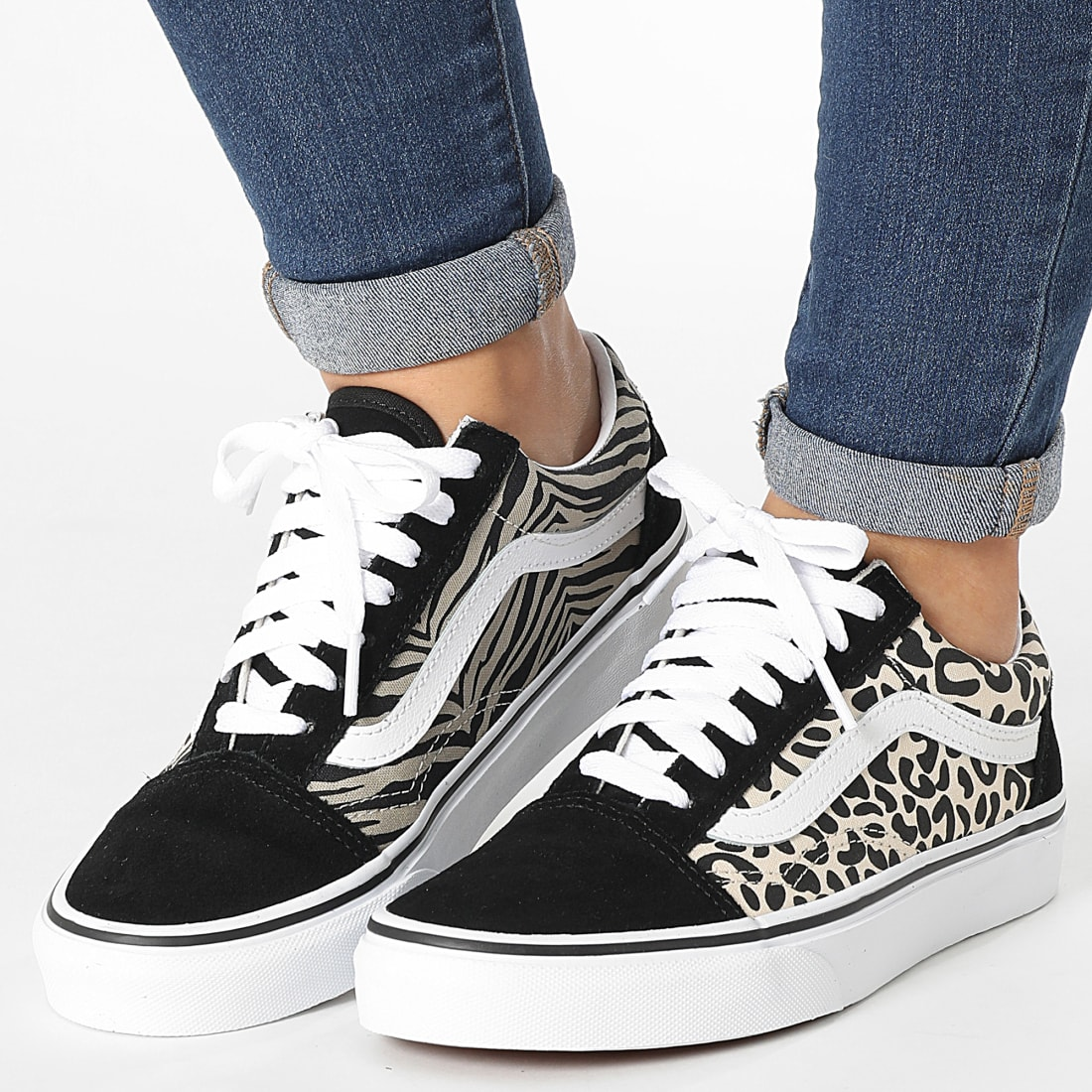 Vans - Baskets Femme Old Skool A3WKY9XB Safari Multi Mix True ...