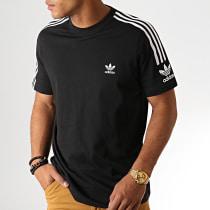 Tee Shirt A Bandes Tech ED6116 Noir