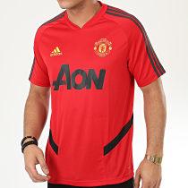 Tee Shirt De Sport Manchester United A Bandes ED6898 Rouge
