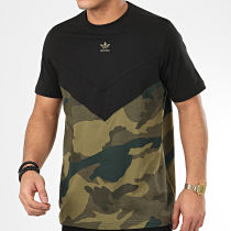 Tee Shirt Camo Block FM3356 Noir Vert Kaki Camouflage